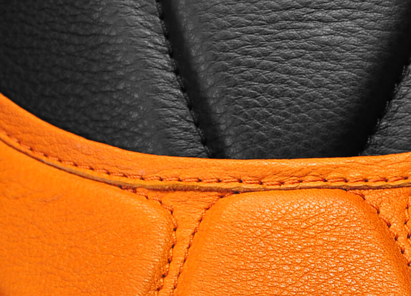 Zwart/oranje