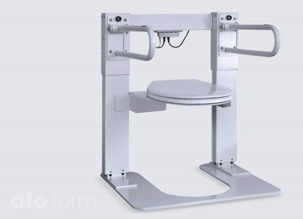 Liftolet kleiner model (LT-1000-S) met standaard armsteunen en vloerplaat (accessoire)