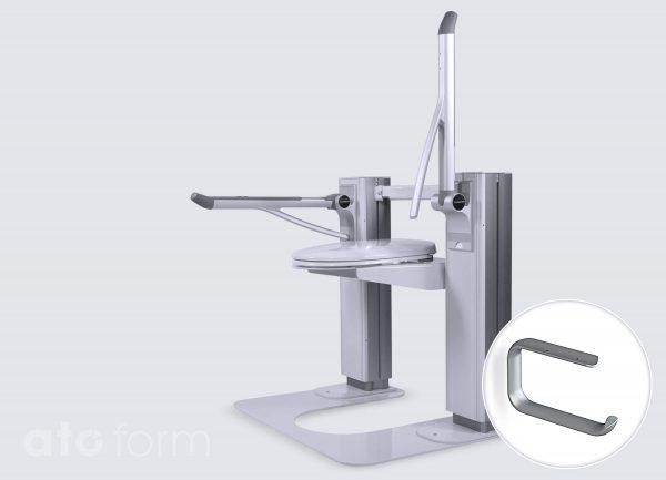 Toiletrolhouder voor Pressalit armsteunen