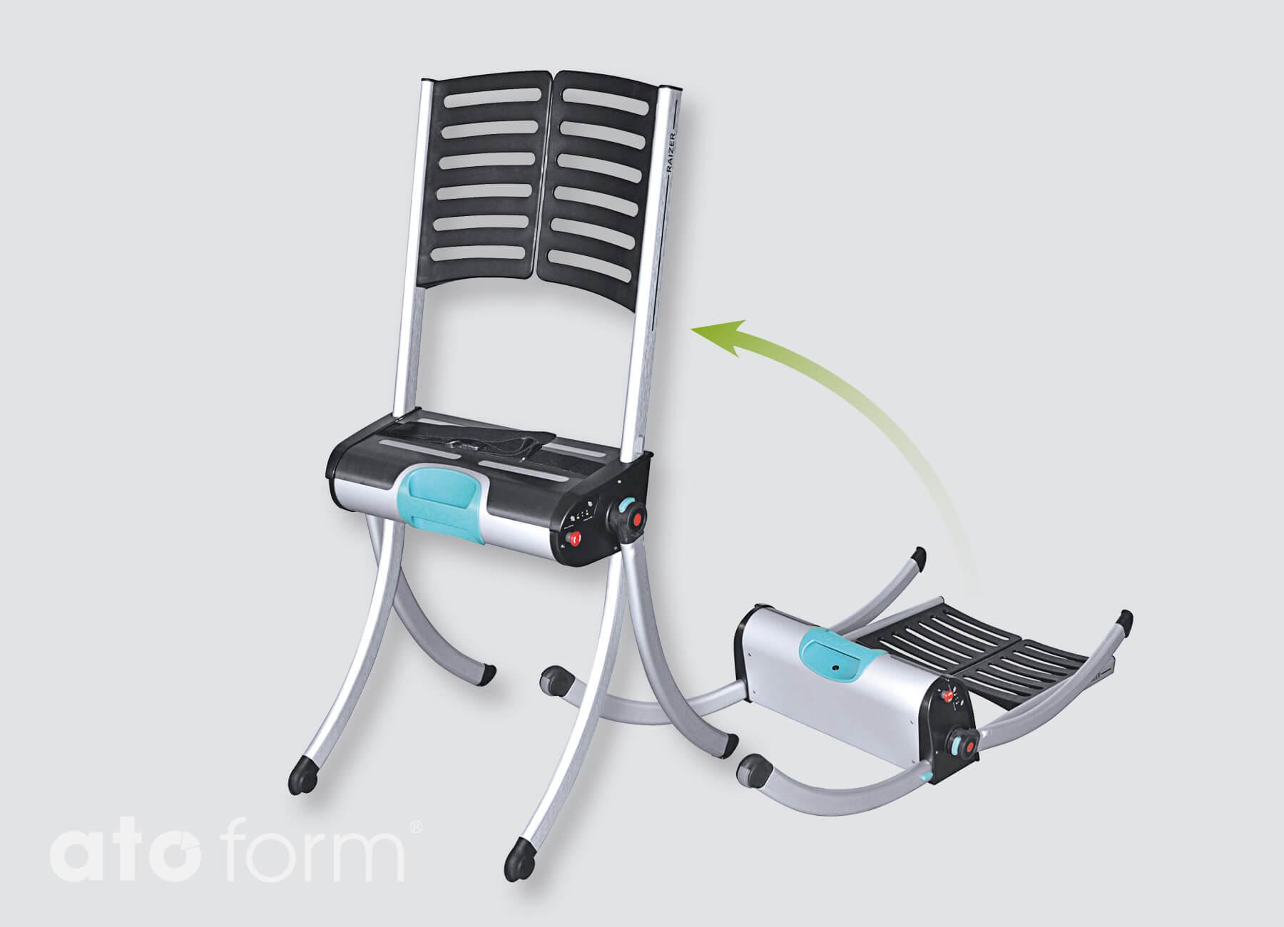 raizer mobile hefstoel voor transfer van de vloer tot zitten of staan. Black Bedroom Furniture Sets. Home Design Ideas