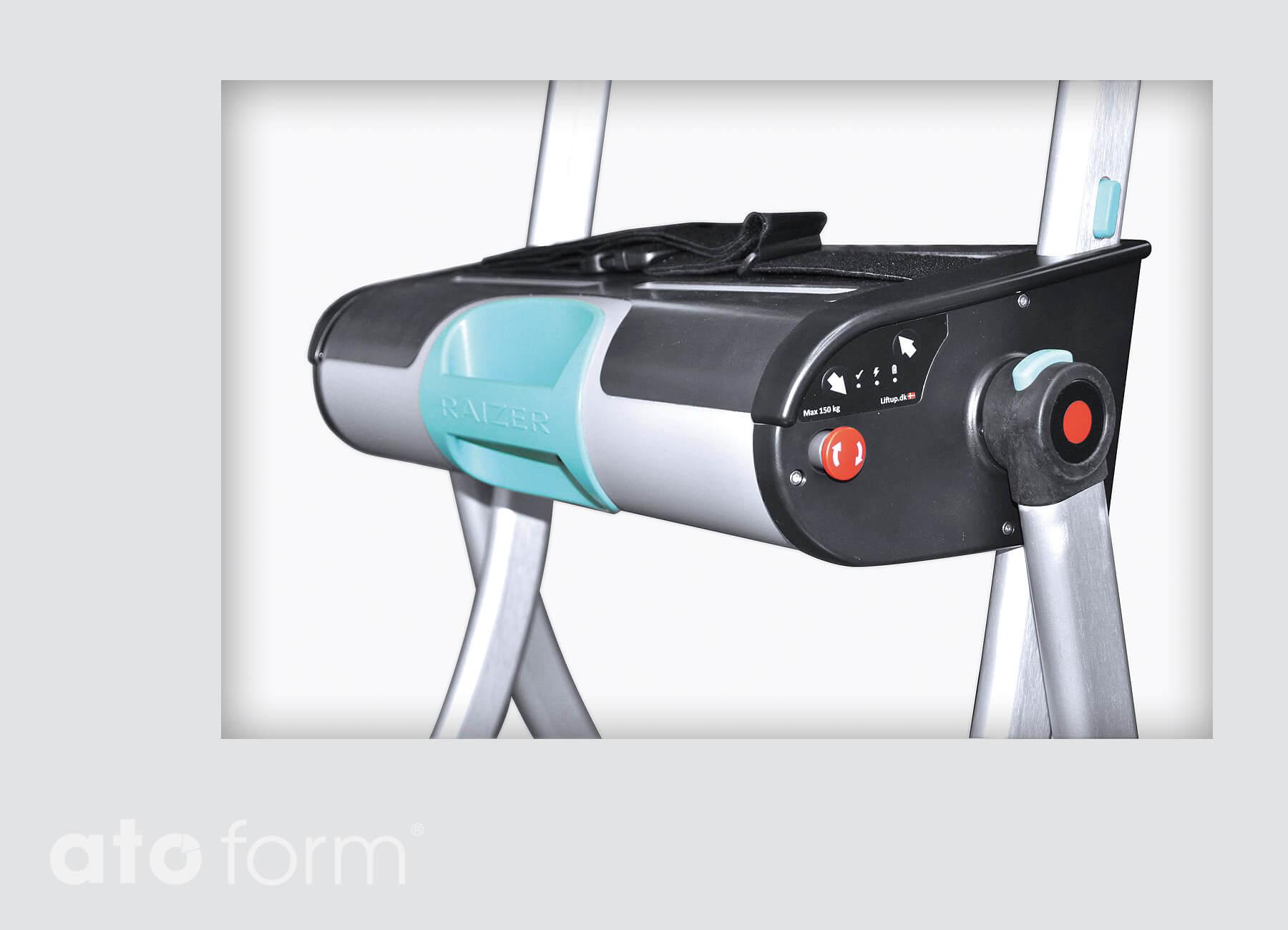 Vouwstoel 150 Kg.Raizer Mobiele Hefstoel Voor Transfer Van De Vloer Tot Zitten Of Staan