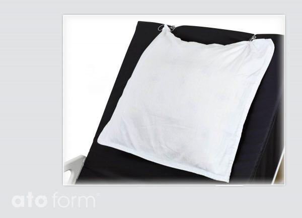 Het kussensloop en het matras zijn gefixeerd en verplaatsen niet