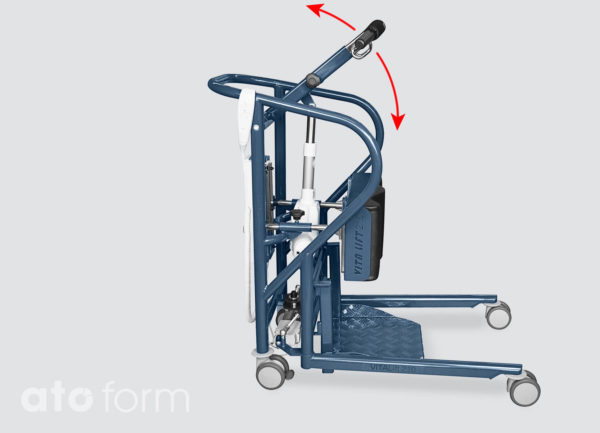 Sta-op hulpmiddel Vita-Lift 210 – De hefarm is in hoogte verstelbaar van 89,0 tot 154,0 cm