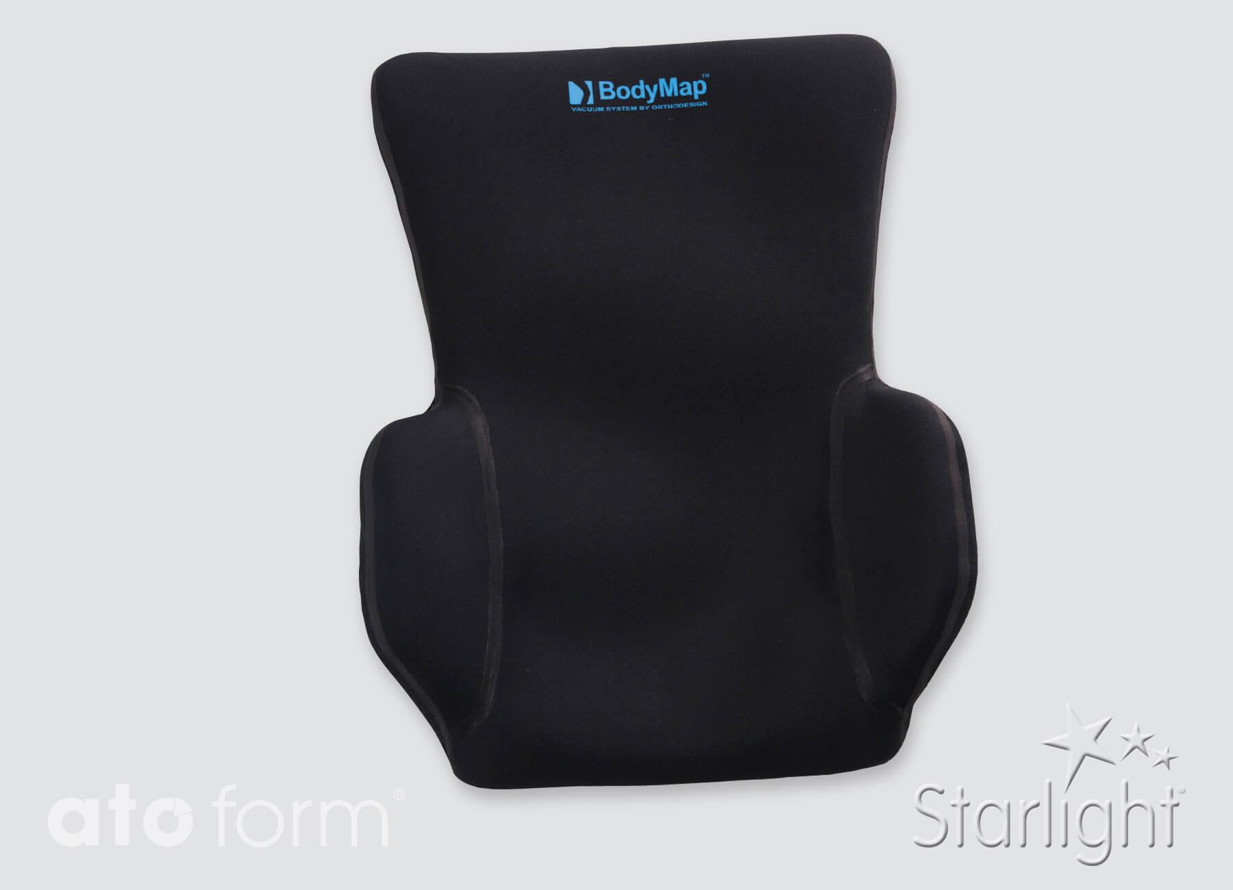 Vacuümrugkussen BodyMap® B+ met zijpads